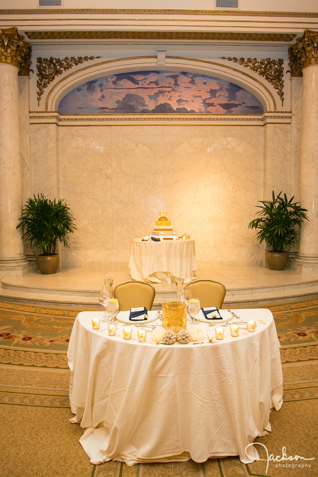 bridal table at corinthian room