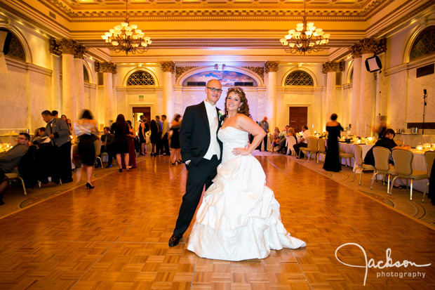bride and groom in the corinthian room