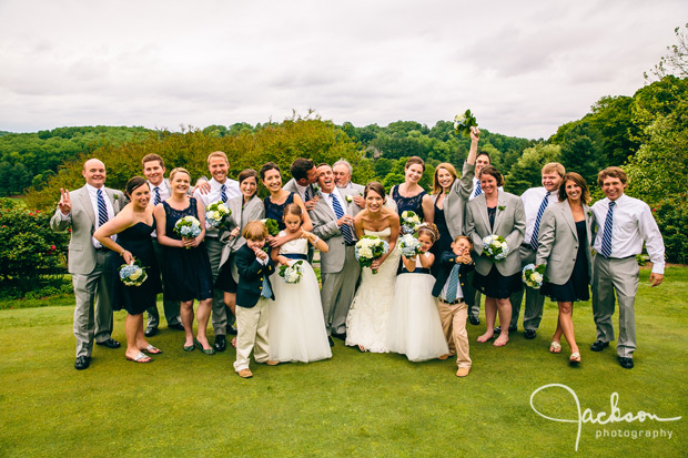 wild bridal party on golf course